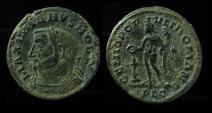 Maximianus Herculius, 301-305 AD. Follis, Lyons. 27mm, Rare+EF!