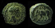 Ancient Coins - Alexandria, Trajan, Dichalkon, AE 13MM , Rare reverse!
