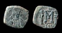 Ancient Coins - Constantine IV, 668-685 AD. AE 22 mm, Follis. Syracuse mint.