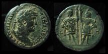 Ancient Coins - EGYPT, Alexandria. Hadrian 117 - 138 ad. AE33. Drachm. Dioskuroi. Year 18. Bold.