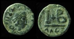 World Coins - MAURICE TIBERIUS, 582-602 AD. (IMITATION OF ) DODECANUMMIUM, MINT OF ALEXANDRIA