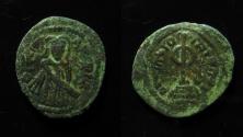Ancient Coins - Umayyad Caliphate. temp. 'Abd al-Malik ibn Marwan' AE 20 mm. Follis. full legend!!