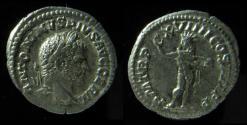 Ancient Coins - Caracalla Augustus 198-217 AD, Silver Denarius, (2.8g)