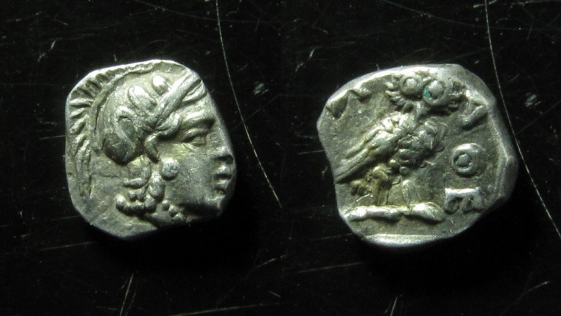 Ancient Coins - ATTICA, Athens. Circa 454-404 BC. Silver Obol (9mm, 0.8 g)
