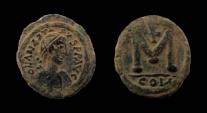 Ancient Coins - Anastasius I, 491-518 AD. 40 Nummi  Follis. Constantinople mint. 23 mm.
