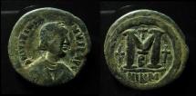 Justinian I, AE 40 Nummi. Follis Nikomedia mint.