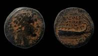Ancient Coins - Seleukid Kingdom. Antiochos III, 223-187 BC. AE 22 mm. Tyre mint.