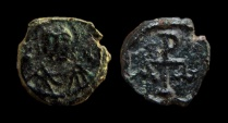 Ancient Coins - Justinian I. 527-565 AD. Nummus. (h). Carthage mint.