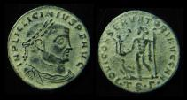 "LICINIUS I, 308-324 AD. AE Follis ""May Jupiter Protects The Emperor"". Thessalonica Mint"