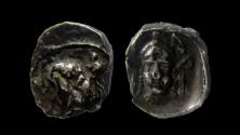 Ancient Coins - Samaria, circa 375 - 333 BC. AR obol.