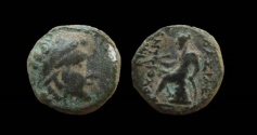 Ancient Coins - Seleukid Kingdom. Antiochos III, 223 - 187 BC. AE 12 mm.