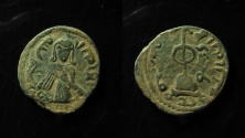 Ancient Coins - Arab-Byzantine, Standing Caliph coinage. 'Abd al-Malik ibn Marwan. AE 20 mm. Follis, SUPERB!!!