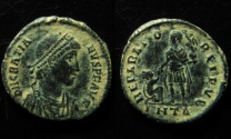 Ancient Coins - Gratian AE 20 mm. Antioch mint.