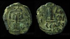 Ancient Coins - Constans II, AE Decanummium, Constantinople mint