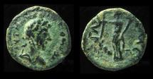 Ancient Coins - Marcus Aurelius AE 18mm of Gaza, Palestine. Dated CY 235 = 174/1 CE. With Young Portrait!