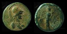 PHRYGIA, APAMEA. AE 25 mm. ATHENA WITH CORINTHIAN HELMET