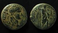 Ancient Coins - Samaria, Sebaste. Domitian (81 - 96 AD). AE 22 mm.