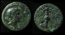 Britannicus, Ionia, Smyrna. (4.0g) 16mm, Beautiful portrait! Scarce