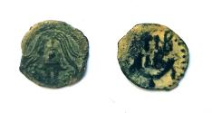 Ancient Coins - Lot of 2 Jewesh Coins. Valerius Gratus AE 16 mm, Herod Archaelaus AE 16 mm.