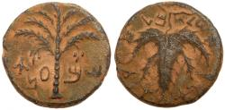 Ancient Coins - Judaea, Bar Kokhba Revolt. AE 25 mm, 132-135 CE.