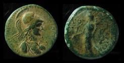 Ancient Coins - PHRYGIA, APAMEA. AE 25 mm. ATHENA WITH CORINTHIAN HELMET