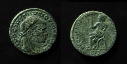 Ancient Coins - Divus Constantius I half-follis. 317-318 AD.
