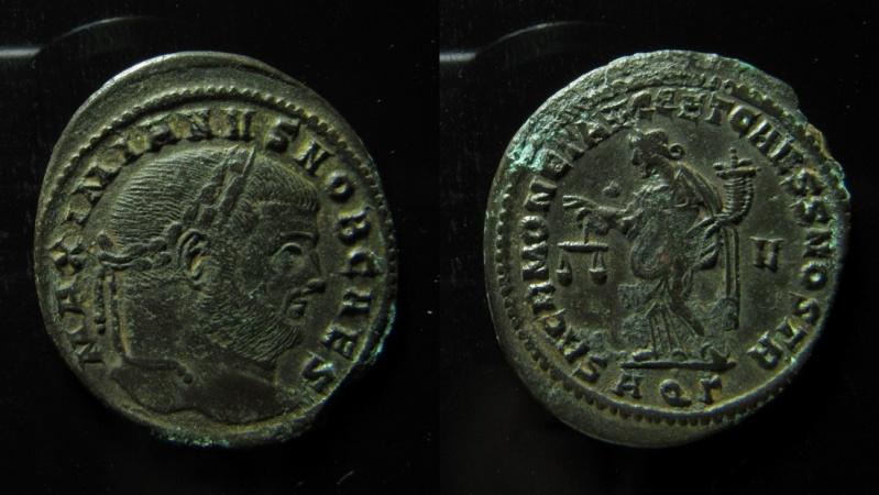 Ancient Coins - Maximianus AE 30 mm, Follis. Aquelia mint.