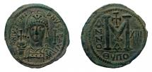 Ancient Coins - Justinian I, 527-565 AD. AE 41 mm, Follis. Antioch mint.