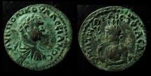Ancient Coins - PONTUS, NEOCAESAREA. VALERIAN SENIOR, 253-260 AD. AE29mm. TURRETED TYCHE.