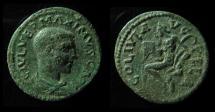 MACEDONIA, PELLA. MAXIMUS CAESAR, 235-238 AD PAN PLAYING FLUTE