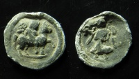 Ancient Coins - Egypt, Alexandia. Lead tessera.  Antinous on horse and Nike. Ex Rare!
