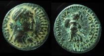 Ancient Coins - Cleopatra VII. 51-30 BC. Æ 17mm . Chalkis (Syria) mint. Ex-Rare+EF!