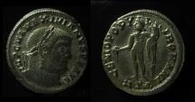 Ancient Coins - Maximianus Silvered AE 27 mm, Follis.  ca 303 AD.
