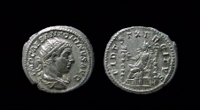 Ancient Coins - Elagabalus, 218-222 AD. Silver Antoninianus. Rome mint.