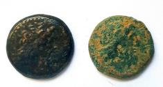 Ancient Coins - Lot of 2 Bronze Coins of Ptolemaic Kingdom, Tyre mint.