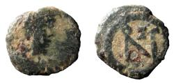 Ancient Coins - Zeno. Second reign, 476-491 AD. AE 10 mm. Thessalonica mint (?).