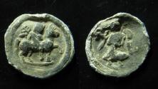 Ancient Coins - Egypt, Alexandia. Lead tessera.  Antinous on horse and Nike. Ex Rare!