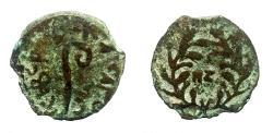 Ancient Coins - Judaea, Tiberius. 14-37 CE. AE 15mm Prutah. Struck under Pontius Pilate, praefectus Judaea. Interesting date!