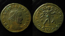 Ancient Coins - Galerius Maximian, AE Follis, Serdica? 307-308 AD. , Unusual mintmark!