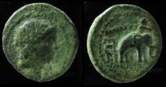 Ancient Coins - Seleukid Kingdom, Antiochus III, 223-187 BC. AE22mm. Uncertain mint 73 (Military mint associated with Ekbatana).