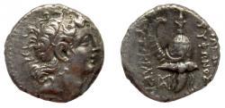 Ancient Coins - Seleukid Kingdom. Tryphon, 148-132 BC. AR Drachm. Very rare