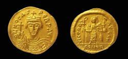 Byzantine, Phocas, Gold Solidus, 21 mm. Thessalonica (?) mint.