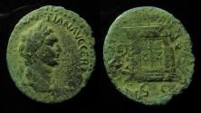 Ancient Coins - Judaea, Domitian, AE27mm, Caesaraea Paneas, struck by Agrippa II, 84-85 AD. Rare!