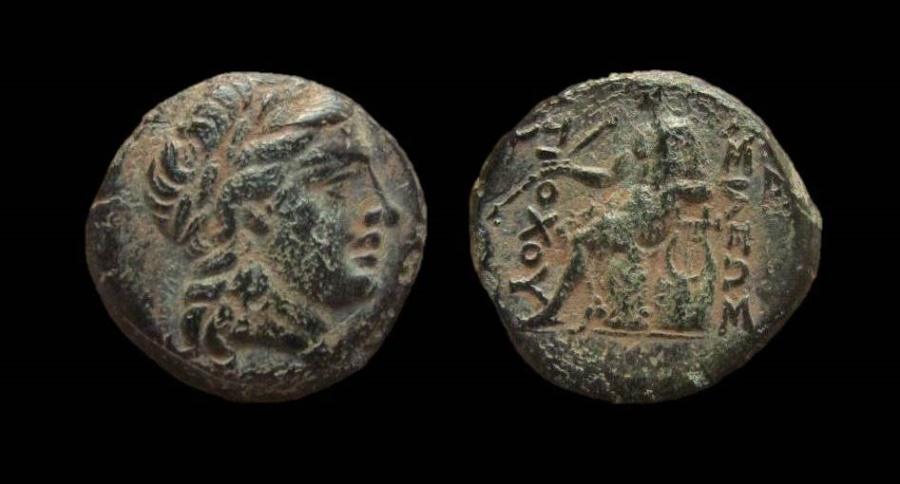 Ancient Coins - Seleukid Kingdom. Antiochos II Theos. 261-246 BC. AE 16 mm. Antioch mint.