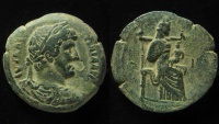 Ancient Coins - Egypt, Alexandria. Hadrian, AE 23 mm, 8.6 g. Diobol , Very rare!
