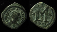 Ancient Coins - Justin I, AE Follis, Nicomedia.