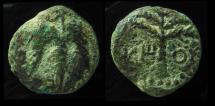 Ancient Coins - JUDAEA, Bar Kochba Revolt. 132-135 CE. Middle Bronze. Irregular Coinage.