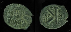 """Ancient Coins - Justinian I AE 20 Nummi. Antioch mint, Mirror-inverted """"K"""",  ANNO right, regnal year left! RARE!"""
