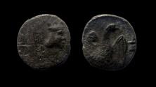 Ancient Coins - Judaea. Yehud Coinage, Persian Period, circa 375-332 BC. silver half-gerah.
