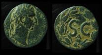 Ancient Coins - SYRIA, ANTIOCH. Nerva, 96-98 AD. AE29. SC. Great Powerful Portrait.